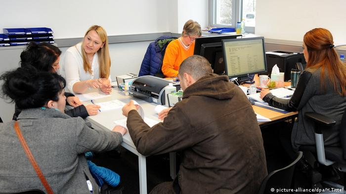 Ankunftszentrum Trier Deutschland Registrierung Datenaufnahme BAMF