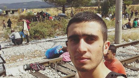 Flüchtlingstreck Syrer Anas Modamani an Bahngleisen