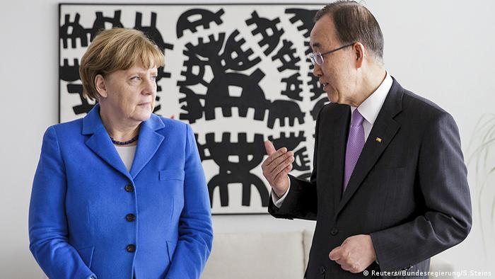 Deutschland Berlin Merkel und Ban Ki Moon im Kanzleramt