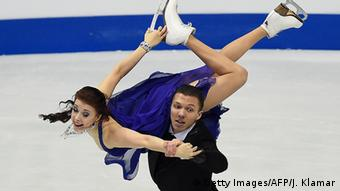 two ice-skaters (c) Getty Images/AFP/J. Klamar