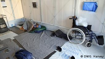 tent with wheelchair copyright: Gemima Harvey