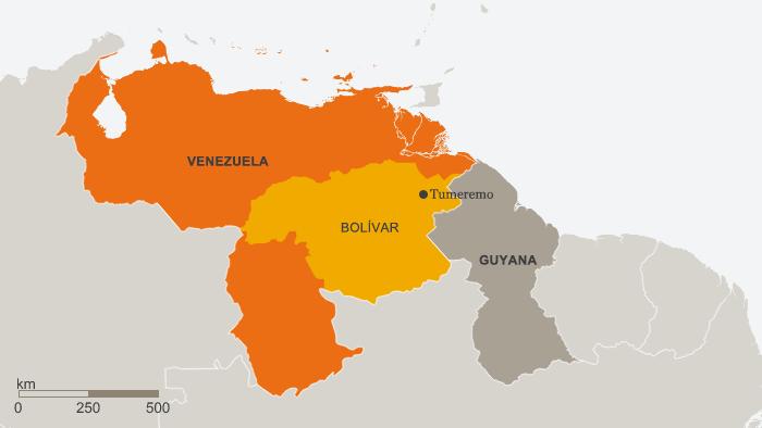 Karte Venezuela