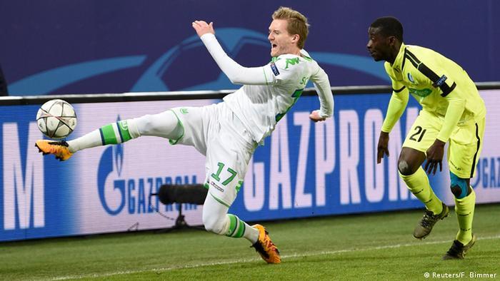 Футбол. лига чемпионов. вольфсбург герм