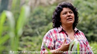 Honduras Berta Caceres (picture alliance/dpa/T. Russo/ Goldman Environmental Prize)