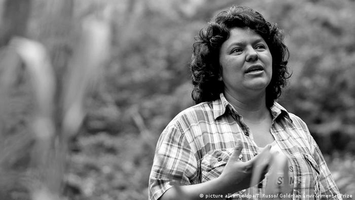 Honduras Berta Caceres Nachruf (picture alliance/dpa/T. Russo/ Goldman Environmental Prize)