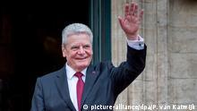 Belgien Bundespräsident Joachim Gauck und seine Lebensgefährtin Daniela Schadt zum Staatsbesuch beim belgischen Königspaar