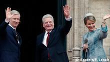 Belgien Bundespräsident Joachim Gauck Staatsbesuch beim belgischen Königspaar