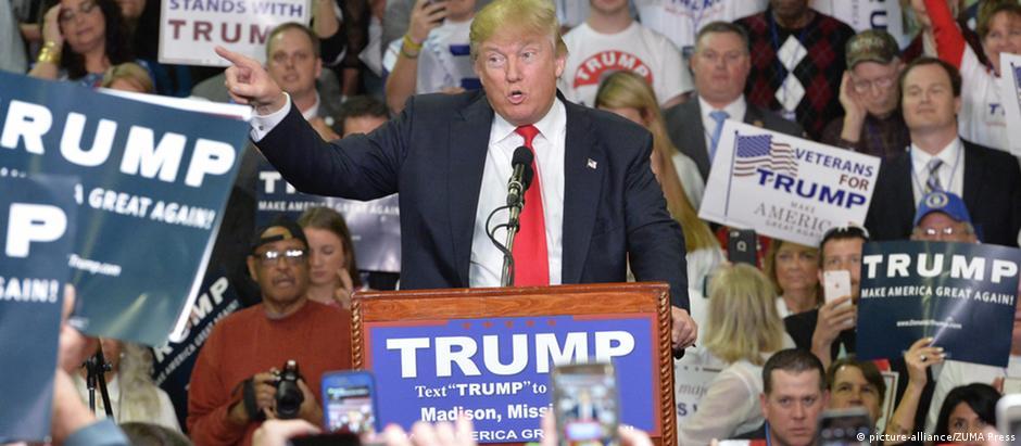 Donald Trump venceu em três dos quatro estados onde houve votação