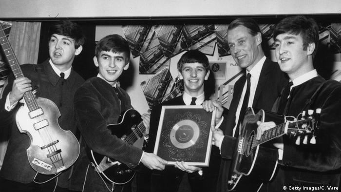 The Beatles with Producer George Martin in 1963, Copyright: Getty Images/C. Ware
