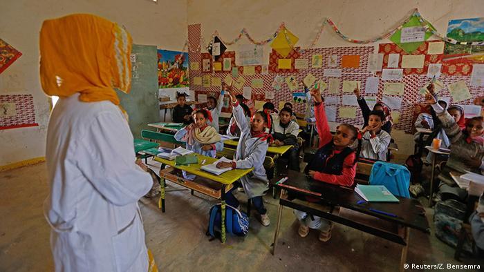 Algerien Tindouf Schulunterricht im Flüchtlingscamp