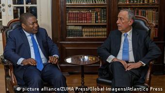Portugal Präsident Marcelo Rebelo de Sousa und Filipe Nyusi