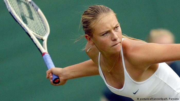 Maria Scharapova en Wimbledon 2004
