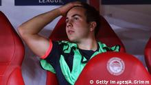 Getty Images/A.Grimm PIRAEUS, GREECE - SEPTEMBER 16: Mario Goetze of Muenchen sits on the bench prior to the UEFA Champions League Group F match between Olympiacos FC and FC Bayern Muenchen at Karaiskakis Stadium on September 16, 2015 in Piraeus, Greece. (Photo by Alex Grimm/Bongarts/Getty Images)
