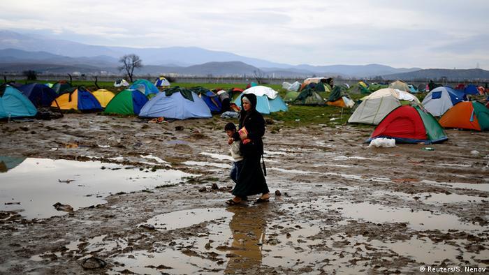 Campamento de refugiados en Idomeni, Grecia, en la frontera con Macedonia.