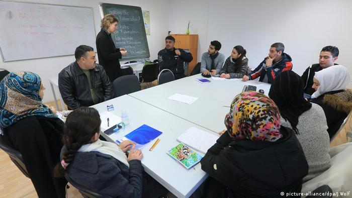 صورة من صف لتعليم اللغة الألمانية خلال دورة الاندماج في اوستبورغ الألمانية