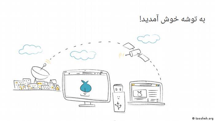کاربران از طریق توشه میتوانند محتوای ارسال شده از طریق رسیور ماهواره را بدون فیلتر دریافت کنند