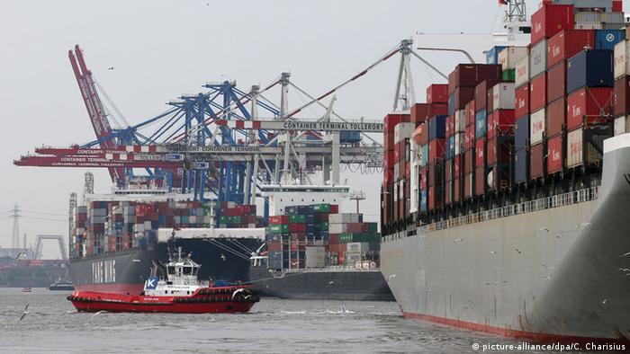Contenedores en el puerto de Hamburgo.