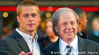 Deutschland Berlin Brad Pitt (l) und Wolfgang Petersen (Foto: Soeren Stache/dpa)