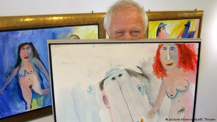 Deutschland Kinderbuchautor und Maler Janosch in Dortmund