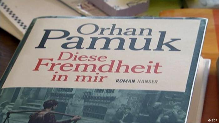 The book cover of Turkish author Orhan Pamuk's latest work. (Picture: ZDF)