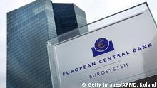 Deutschland Eingangsschild Europäische Zentralbank EZB neue Zentrale