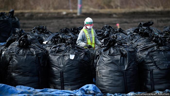 Fukushima kontaminierte Erde Boden