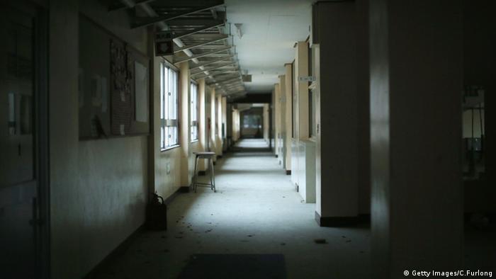 Japan Fukushima leere Schule Sperrzone