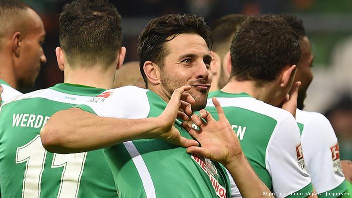 Deutschland Fußballer Claudio Pizarro von Werder Bremen (picture alliance/dpa/C. Jaspersen)