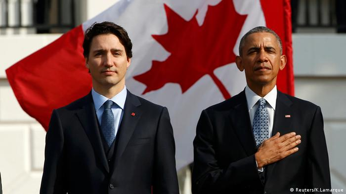 Justin Trudeau Washington Barack Obama USA