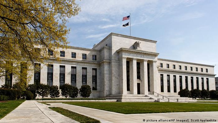 USA, Gebäude der Federal Reserve Bank in Washington DC (picture alliance/AP Images/J. Scott Applewhite)
