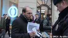 Russland Protest von Journalisten in St. Petersburg