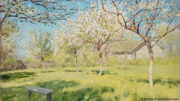 Исаак Левитан. Цветущие яблони, 1896