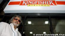 Indien Bangalore Airport VVijay Mallya unter Kingfisher Airlines LOGO