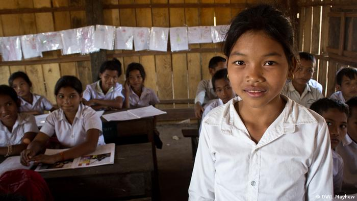 Kambodscha Bildungsangebote für ethnische Minderheiten Chhean Srey Meth Schülerin