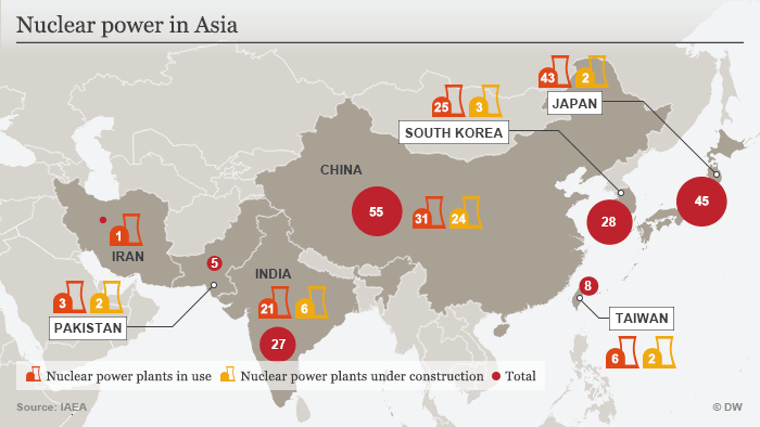 Infografik Atomkraft in Asien ENG