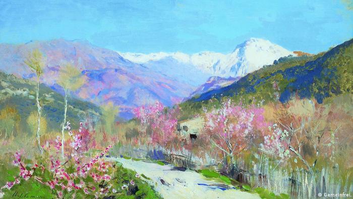 Весна в Италии, Исаак Левитан, 1890