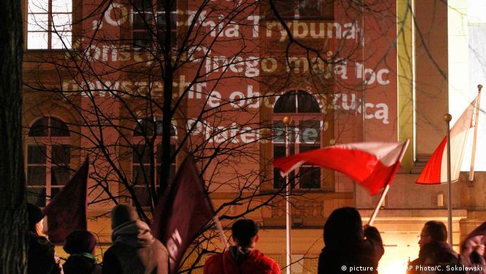 Polen Demonstration in Warschau