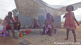Angola Lobito Family in Dislodged camp in Cabrais