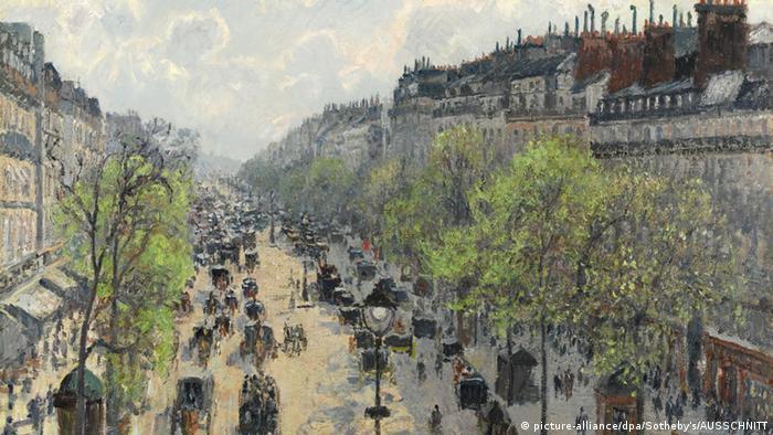 Бульвар Монмартр. Весеннее утро, Камиль Писсарро, 1897