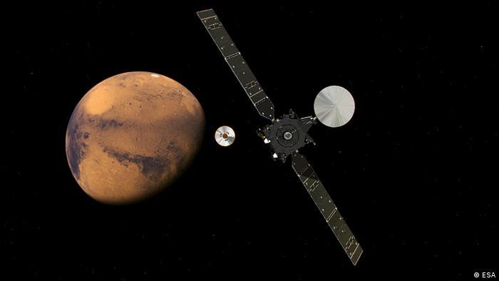 Різні траєкторії зондів біля Марса