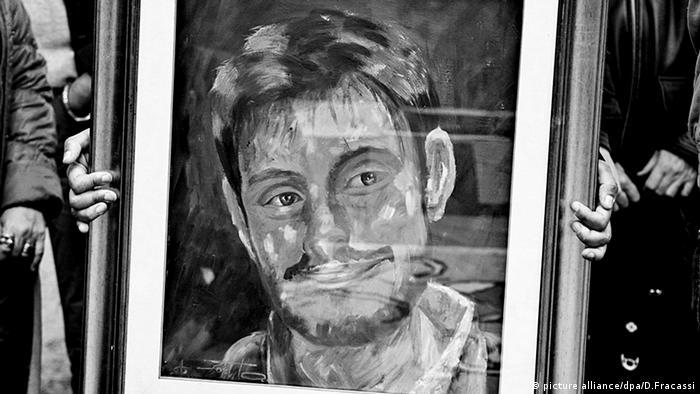 Giulio Regeni Gemälde Student und Journalist Italien (picture alliance/dpa/D.Fracassi)