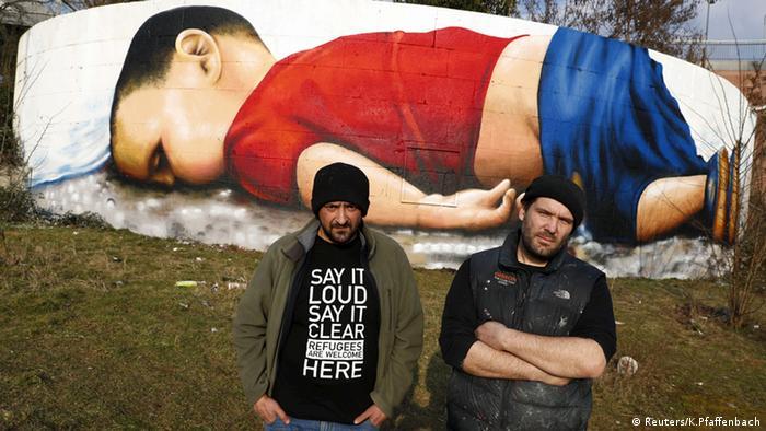 Graffiti Kunst Aylan Kurdi Justus Becker Oguz Sen Frankfurt