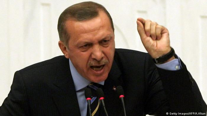 A picture of Turkish president Tayyip Erdogan.