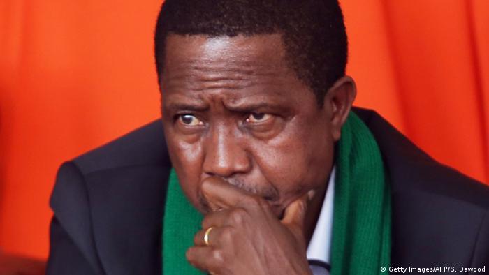 Sambia Lusaka Präsident Edgar Chagwa Lungu