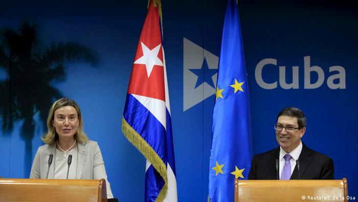 Federica Mogherini EU Kuba Bruno Rodriguez Parrilla