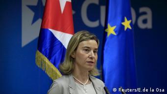 Federica Mogherini, en su visita a Cuba de abril de 2016.