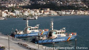 Σκάφη του γερμανικού λιμενικού στο Βαθύ της Σάμου στο πλαίσιο της Frontex (2016)