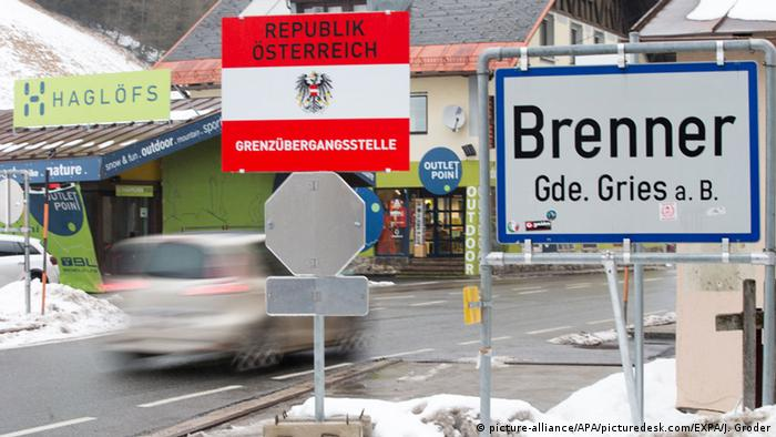 Austrian border crossing -Brenner Pass