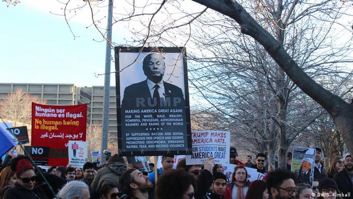 USA Protest gegen Donald Trump in Chicago
