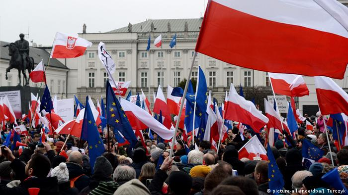 Polen Demonstration Justizreform